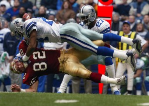 Big Hit on a 49er, 49ers vs Cowboys, Texas Stadium, 2002