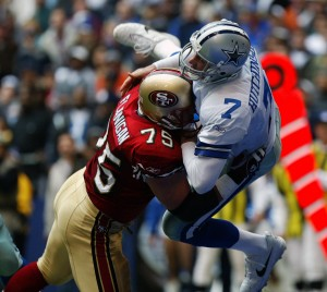 Big Hit on a Cowboy, 49ers vs Cowboys, Texas Stadium, 2002