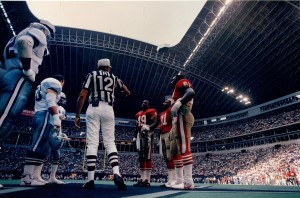 Pre-game Coin Flip, Texas Stadium, 49ers vs Cowboys, October 15, 1989