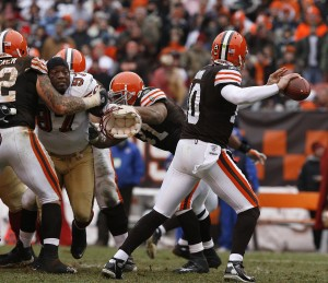 BY's last NFL game. December 30, 2007, Cleveland Browns, Cleveland, Ohio,